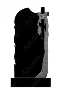 Гранитный памятник (крест с площеницей) 120х60