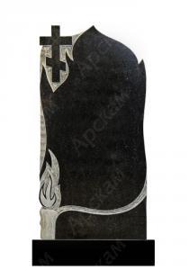 Гранитный памятник (крест с пламенем) 120х60