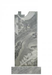 Мраморный памятник (крест с площеницей) 110х45
