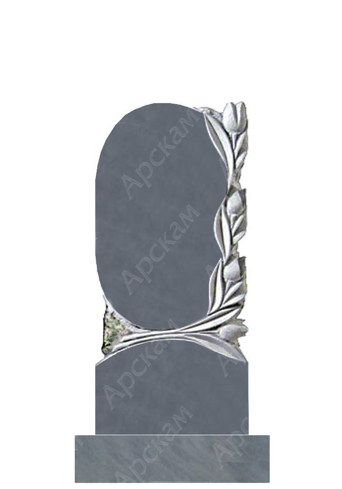 Памятники на могилу с тюльпанами Памятник Скала с колотыми гранями Елизово