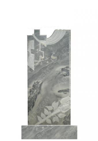Мраморный памятник (крест с площеницей) 100х45