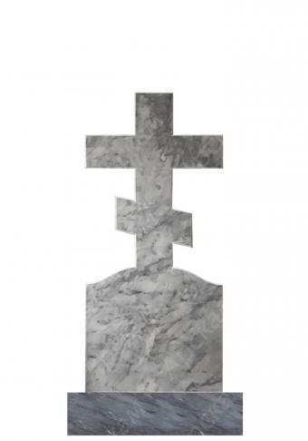 Мраморный памятник (крест) 100х45
