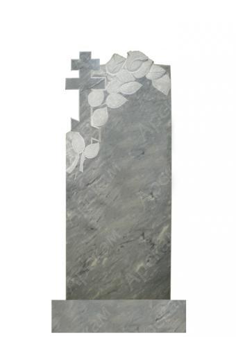 Мраморный памятник (крест с розами) 110х45