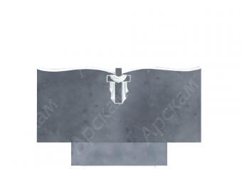 Мраморный памятник (крест с волной) 45х100